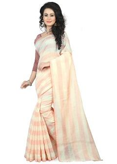 Cotton Beige Saree By Cozee Shopping