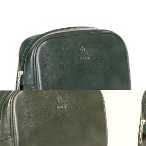 Kara Solid Leather Pouch - Green