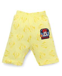 Bodycare Three Fourth Pants Minnie Mouse Patch - Yellow