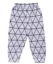 Ollypop Full Length Lounge Pant Triangle Print - Light Grey
