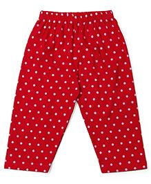 Tango Full Length Dotted Lounge Pants - Red