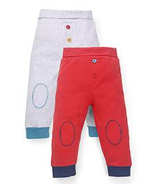 Mothercare Full Length Bottoms Pack of 2 - Red Grey