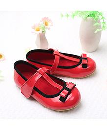 LCL By Walkinlifestyle Mary Jane Shoes Bow Design - Red