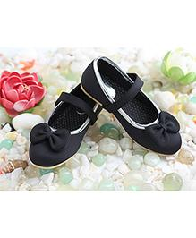 LCL Belly Shoes Bow Applique - Black
