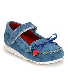 Tuskey Ballerina Shoes With Tassel - Blue