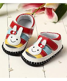LCL By Walkinlifestyle Booties Velcro Closure Rabbit Face - Red
