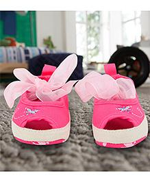Mini Sed Bellie Booties With Bow - Pink
