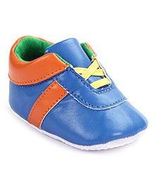 Cute Walk Shoes Type Booties - Blue