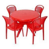 CELLO MIRACLE CHAIR WITH PRESTO TABLE - RED