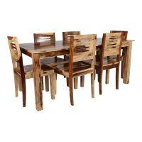 Tezerac -Rochelle 6 Seater Dining Set Includes (1 Table + 6 Chairs )