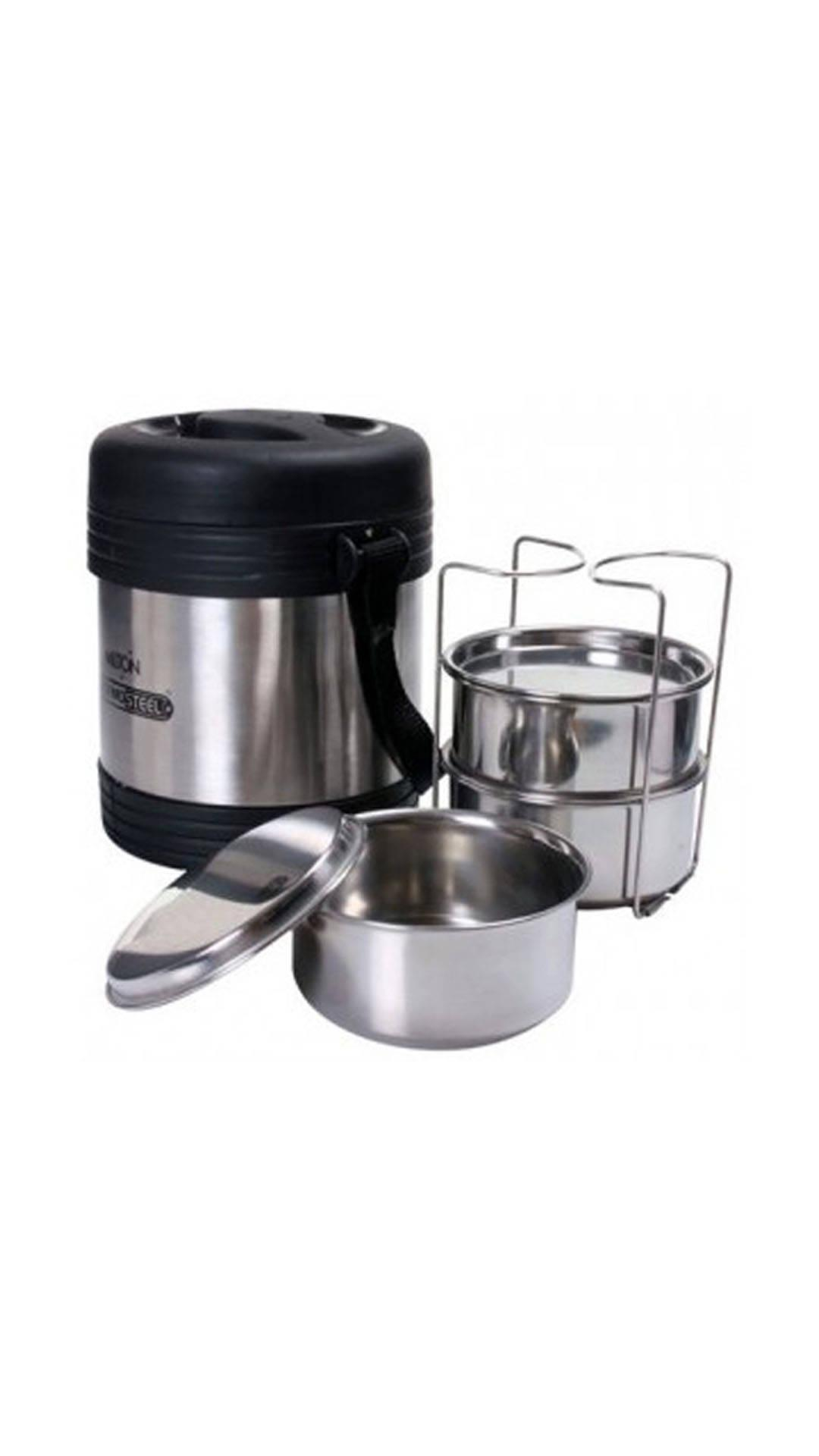 Milton Legend Thermosteel Lunch Boxwith 3 Containers