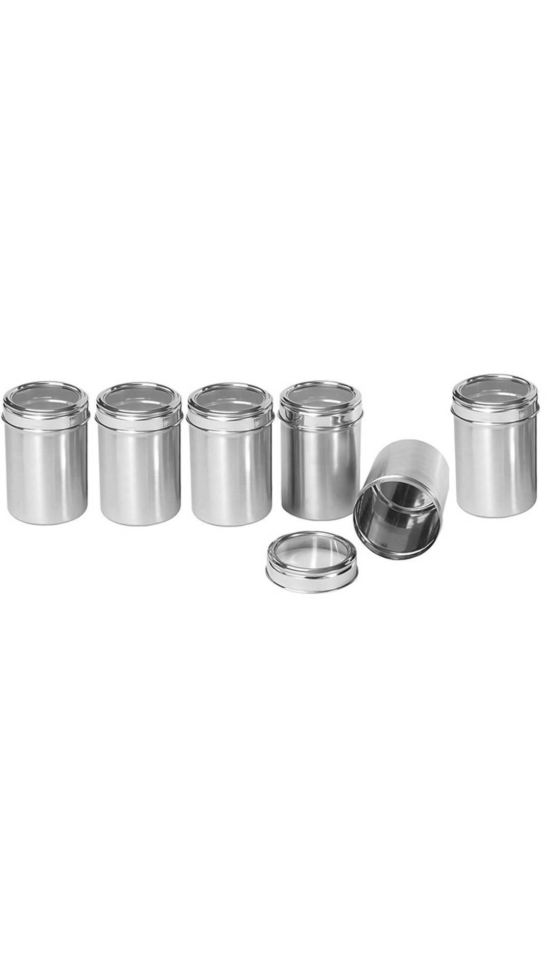 Dynamic Store Set Of 6 See Through Canister Diameter
