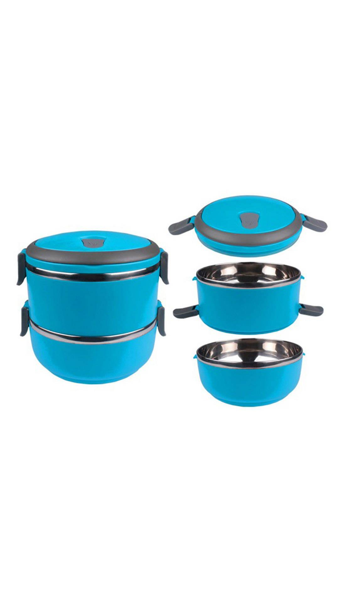 Urban Living Blue Double Layer Lunch Box