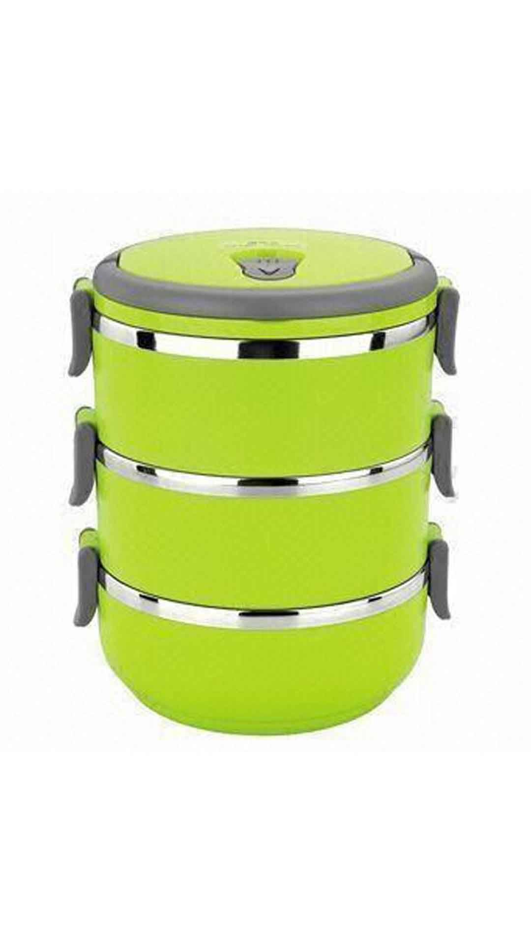 Imported Lunch Box Green- 3 Layer