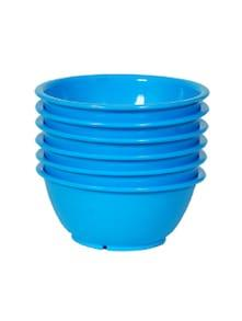 Day2Day Forever Turquoise Blue Microwave Safe Bowls Pack of 6