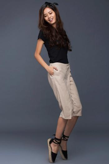 Zivame Overlay Straight Fit Pant-Beige