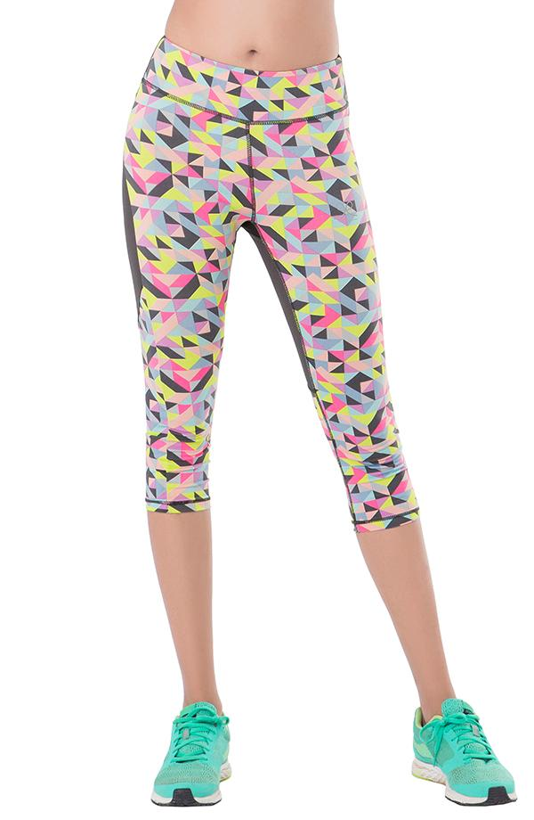 "Geo Pop ""Energise"" Workout Cropped Leggings"