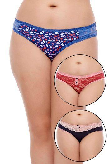 Zivame Ultra Soft And Chic Bikini Brief (Pack of 3)- Assorted