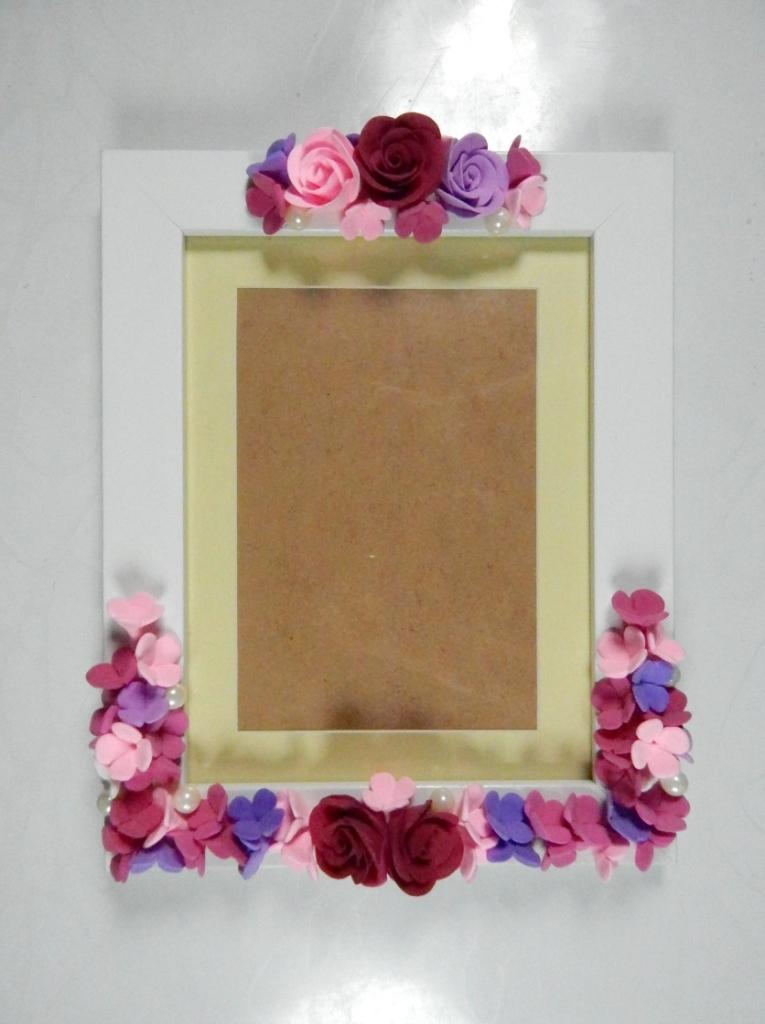 ClayKraft Glass Floral Photo Frame