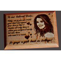 UNIQUE- 4' X 5' INCH WOODEN ENGRAVED PERSONALIZED FRAME-MAKE SPACIAL IMPRESSION