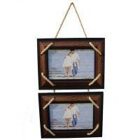 Wall hanging wood photo frame (2 frames)