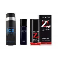 Deo Dhamaka Sale - ICE Spray deo With Hot collection deo & Black Z Pocket Perfume - 75ml (Set of 3)