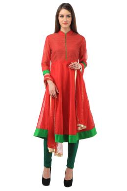 ANARKALI RED Anarkali SUIT