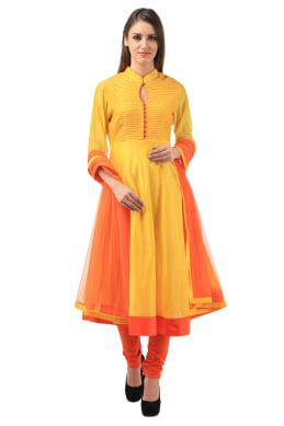 Anarkali yellow Anarkali Suit