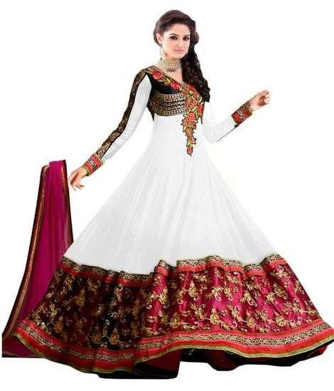 Latest Designer White Anarkali Suit