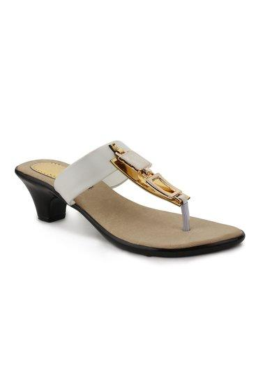 London Steps LS_0008_White Synthetic Casual Heels