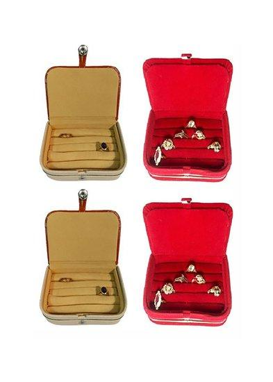 Abhinidi Combo of Multipurpose Ring box earring case jewellry pouch Travelling Box