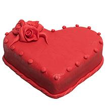 Red Heart Cake
